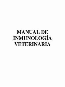Manual De Inmunologia Veterinaria Docx