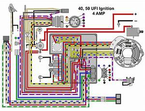 The Ignition Wiring Diagram For Evinrude 55hp Model 55875s