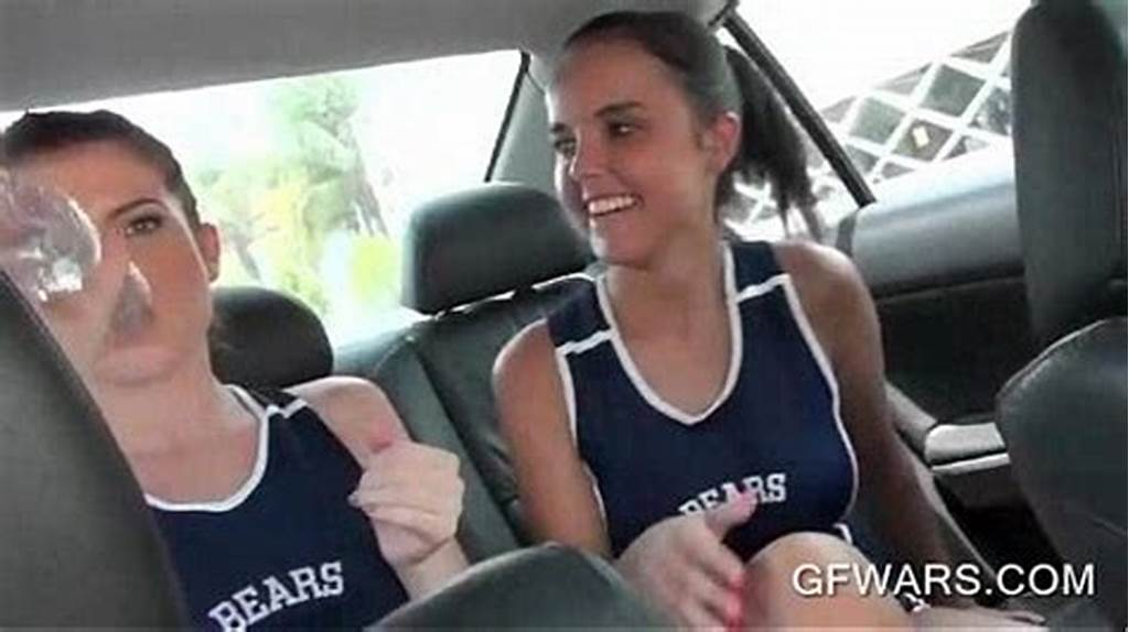 #College #Cheerleaders #Licking #And #Fingering #In #The #Car