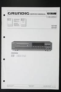 Grundig Cd 436  Cd 437 Original Service Manual  Guide