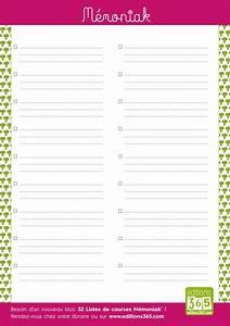 Liste De Courses À Imprimer Gratuitement : mod les de liste de courses imprimer pdf et excel ~ Nature-et-papiers.com Idées de Décoration