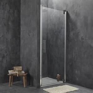 Paroi et porte de douche douche leroy merlin for Porte pivotante pour douche