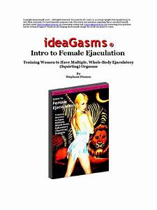 Female Orgasm Mastery Workbook Manual