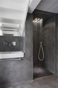 Deco Salle De Bain Gris : salle de bain design en b ton gris anthracite ~ Farleysfitness.com Idées de Décoration
