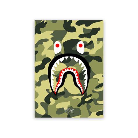 Rhys Designs BAPE 'Shark' Green Camo