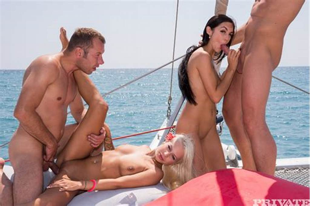 #Lullu #And #Julie #Have #Sex #Together #And #With #Two #Men #On #A