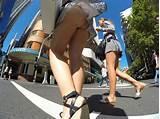 Nude teen crossing street