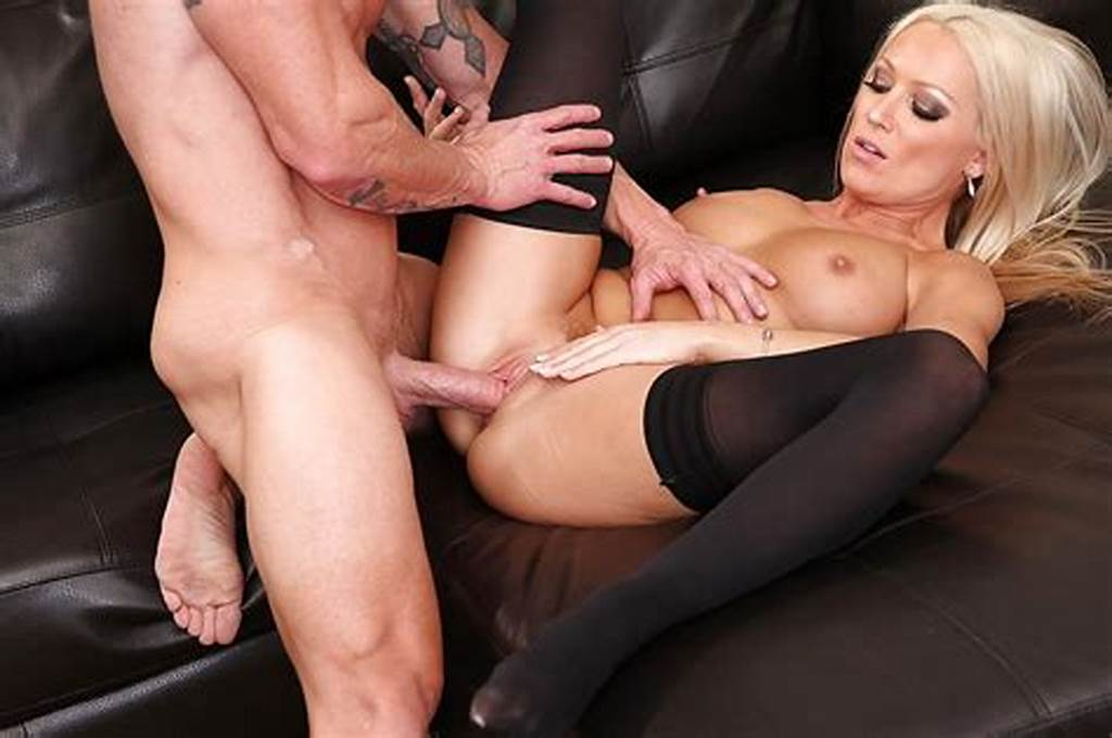 #Sexy #Blonde #In #Stockings #Diana #Doll #Gets #Fucked #And #Jizzed