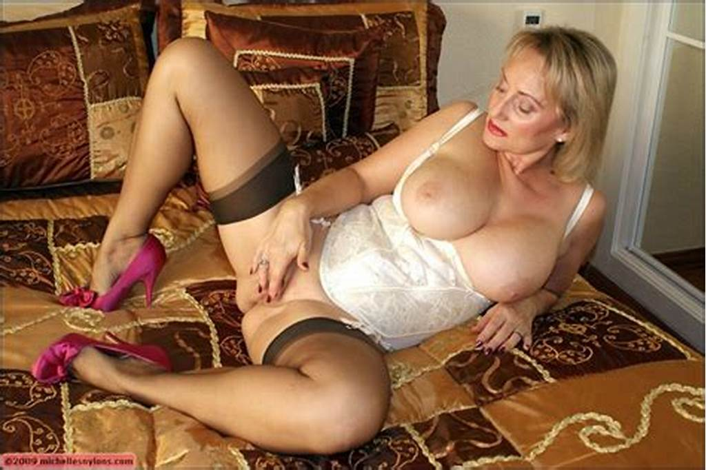 #Busty #Mature #In #Stockings #Giving #A #Blowjob #And #Playing