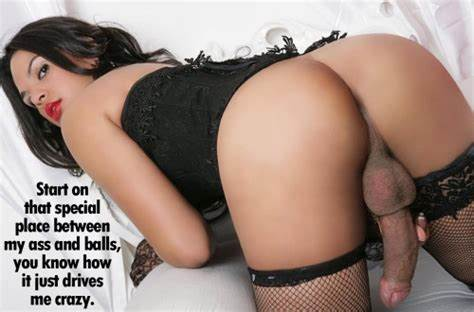 Cuckold Fondles Then Fucks Tranny Back shemale captions