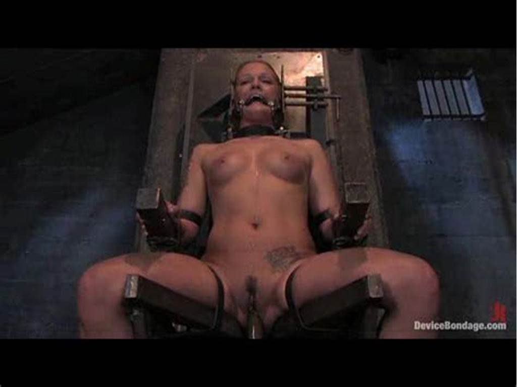#Solo #Girl #In #A #Bondage #Chair #Getting #Dildo #Fucked