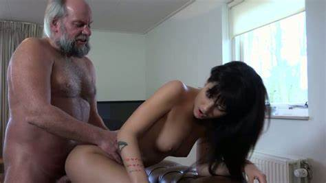 Lover Wanks In Front Of Kinky Nubile Cousin Catching 70 Years Old Handsome Fingered Off So She