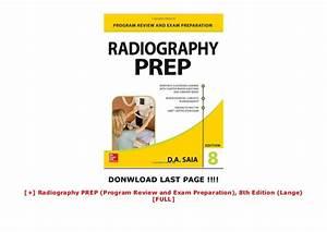 Radiography Prep  Program Review And Exam Preparation