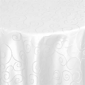 Damast Tischdecke Weiß : tischdecken damast oval mit saum ornamente weiss ~ Watch28wear.com Haus und Dekorationen