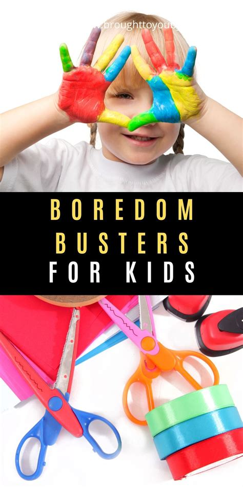 Kids at home right now? Check out these Boredom Busters