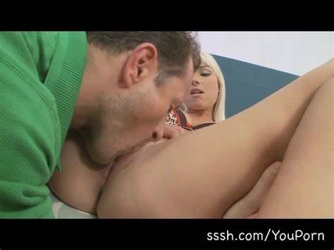 Spunky Teens Pussylicking His Dildo