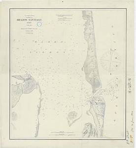 Nautical Chart Of Brazos Santiago  Texas Showing Location