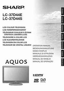 Sharp Lc 37d44e Tv   Television Download Manual For Free