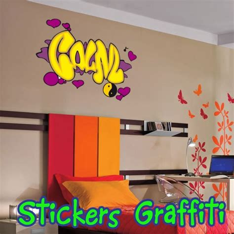 fille nue chambre affordable stickers graffiti with stickers ado