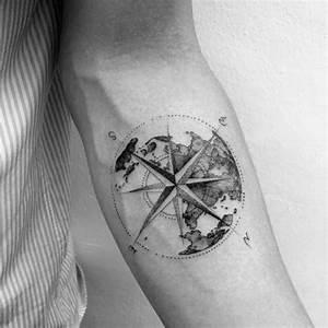 Top 43 Geometric Compass Tattoo Ideas