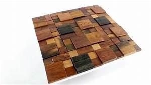 Mosaik Selber Fliesen Auf Altem Tisch : holz mosaik fliesen schiffsplanken braun mix lackiert ~ Watch28wear.com Haus und Dekorationen