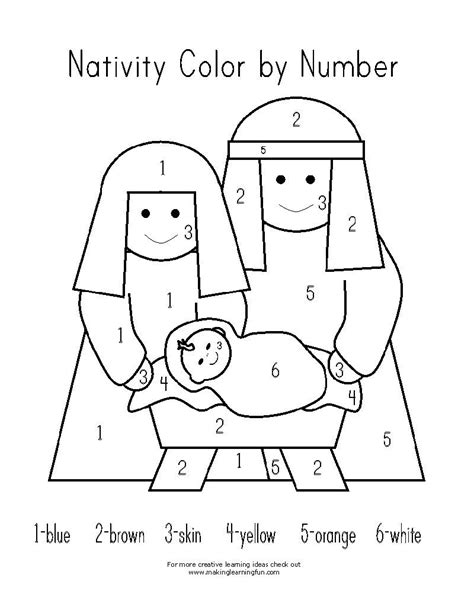 Nativity Scene Christmas Color By Number See the category