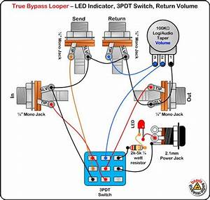 True Byp Looper Volume Led Dpdt Switch Wiring Diagram