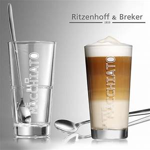 Latte Macchiato Gläser Set : ritzenhoff breker latte macchiato gl ser lena mit l ffel 4 teilig 350 ml k che ~ Eleganceandgraceweddings.com Haus und Dekorationen