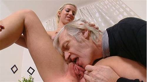 Blonde Babe Licks Her Nipples In Solo Sex #An #Old #Fart #Fucks #Gorgeous #Blonde #Babe #On #The #Table #After