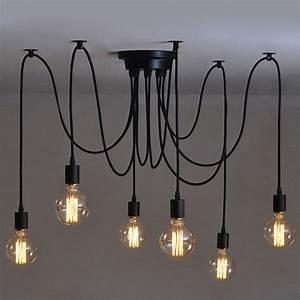 Luminaire 3 Suspensions : 6 pcs luminaire suspension style europ en moderne ikea lampe pendante lampe plafonnier diy ~ Teatrodelosmanantiales.com Idées de Décoration