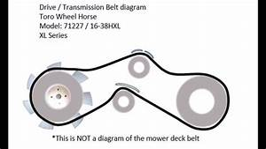 Toro Wheel Horse Drive Belt Diagram Model 71227 16 38hxl