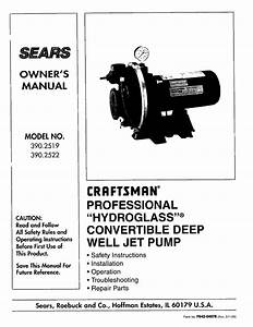 Craftsman 390 2522 Owner S Manual