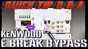 How To Do The Parking Brake Bypass On Your New Kenwood