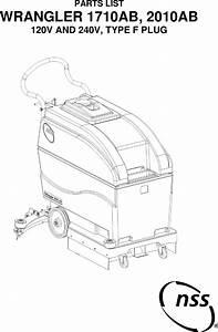 Nss Wrangler 1710 2010 Walk Behind Floor Scrubber Parts Manual