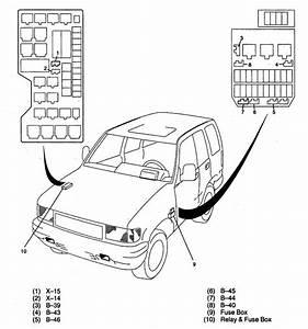 Acura Slx  1998 - 1999   U2013 Fuse Panel
