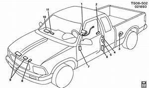 Chevrolet S10 Label  Emissions And Cautions  Label  Acsry