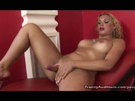 Blonde Ts Domino Fingering In The Pigtail Tranny Footjob