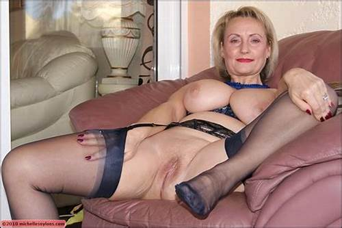 Classy Young Drilled In Clit #Mature #Blonde #With #Massive #Boobs #Spreading #Her #Legs #To