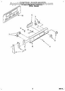 Parts For Whirlpool Rf362bbdw0  Control Panel Parts