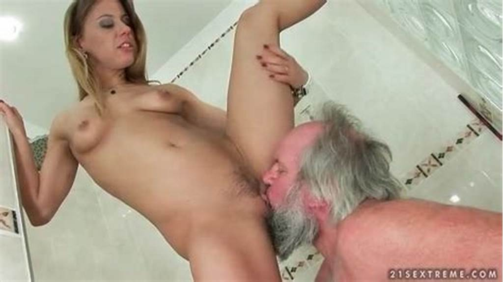 #Old #Man #Licks #Dominant #Young #Pussy #In #Shower
