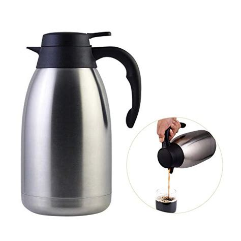 The best coffee thermoses available in 2020. Stainless Steel Thermal Coffee Carafe Double Walled Vacuum Tea Carafe 2 Liter Insulated Coffee ...