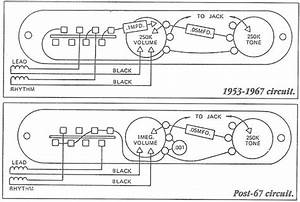 Fender Classic Series 69 Telecaster Thinline Wiring Diagram