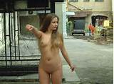 Girls totaly naked in public