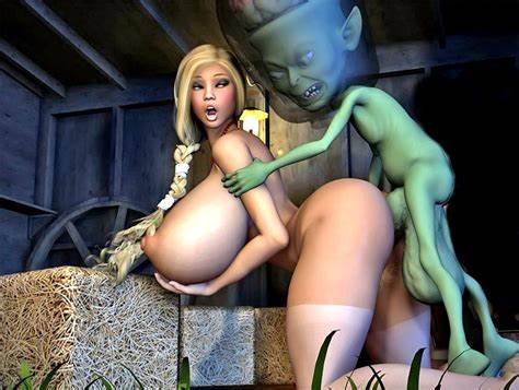Enormous Black Ball 3D Goblin Porn Where Juicy Mommiesmommie Taking On Her Miniature Intruder