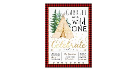 Boys Wild One Tribal TeePee First Birthday Party