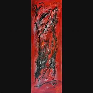 Grand Tableau Blanc : peinture abstraite rouge noir blanc dissolution ~ Teatrodelosmanantiales.com Idées de Décoration