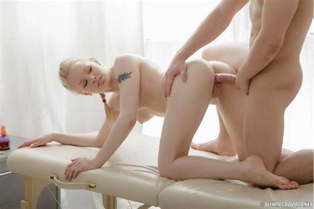 #Pretty #Blonde #Teen #Allows #Her #Masseur #To #Fuck #Her #Snatch