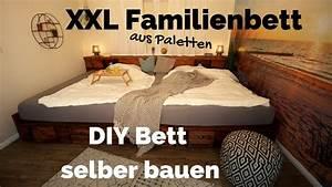 Massivholz Bett Selber Bauen Anleitung : bett selber bauen palettenbett diy xxl kingsize ~ Watch28wear.com Haus und Dekorationen