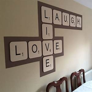 giant scrabble wall letter by copperdot With giant letters