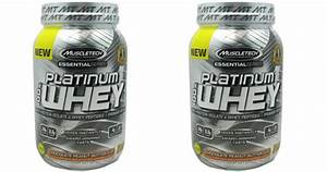 Two Muscletech 100  Platinum Whey Protein Powder 2 Lb Only  26 Shipped  Regularly  51 49 Each